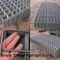 توری شبکه فولادی (مش)  این توری از مفتولهای سخت صنعتی ساده و آجدار که بر روی هم نقطه جوش شدهاند در ورقهایی به ابعاد