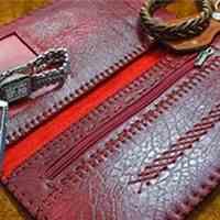 کیف پول دست دوز زنانه