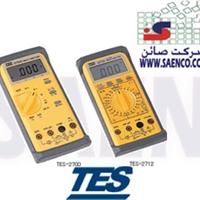 مولتی متر , LCR متر, ولت متر, مدل TES – 2712 , ساخت کمپانی TES تایوان  -رنج اندازه گیری جریان : 200 µ /2m/20m/200m/20A -