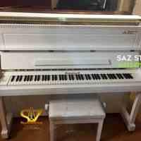 فروش پیانو برگمولر UP121 سفید مات - سالار غلامی