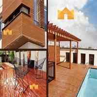 نمای چوبی، روف گاردن و محوطه سازی