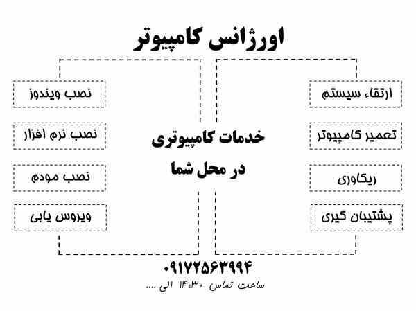 خدمات کامپیوتری در منزل و محل کار - شیراز