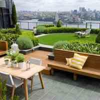 باغ بام ، تراس ، پارکینگ  سبز  - روف گاردن