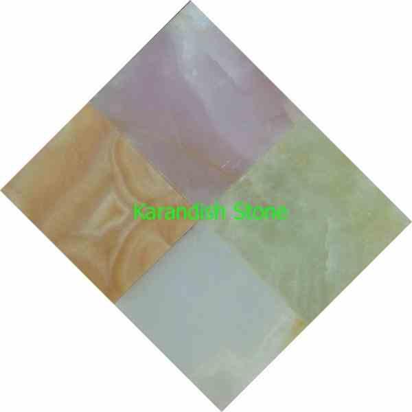 تولید کننده سنگ مرمر سبز، سفید و پرتقالی