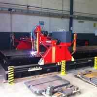 برشکاری CNC پلاسما انواع فولاد تا ضخامت 80 میلیمتر (استیل و آلومینیوم)