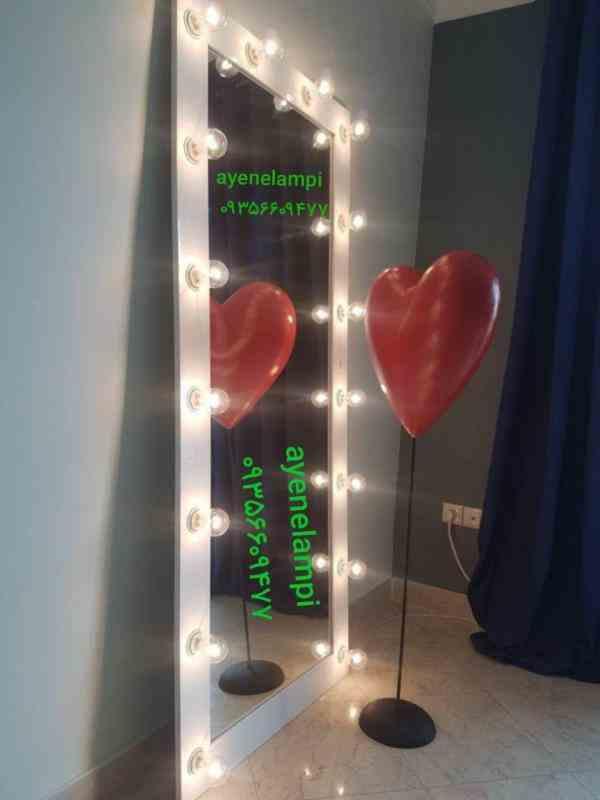 فروش  آینه قدی ، آینه کنسول، آینه چراغ دار،  گریم و لامپ دار در ابعاد و رنگ های مختلف
