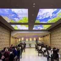 مشاوره،  طراحی و اجرای سقف کشسان لابل ویژه ی فودکورتها، رستورانها، کافی شاپها و ...