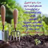 اخذ کارشناسی کشاورزی /شیلات باغبانی /با استعلام