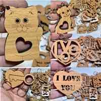 سرکلیدی چوبی طرح عاشقانه