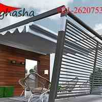 سازه چادری غشا - سقف های تاشو رستوران و کافه