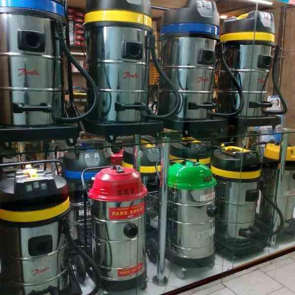 جاروبرقی صنعتی ۳ موتوره آب و خاک دانفوس