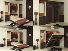 تختخواب تاشو کمجا چوبینکو ( تخت تاشو دیواری )