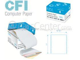 کاغذ کامپیوتر - فرم پیوسته چهار نسخه کاربن لس CFI